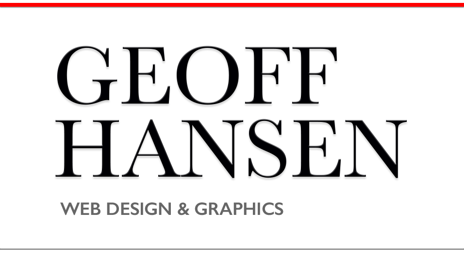 Geoff Hansen – web design & graphics
